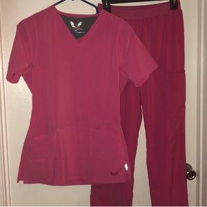 Other - Pink scrub set